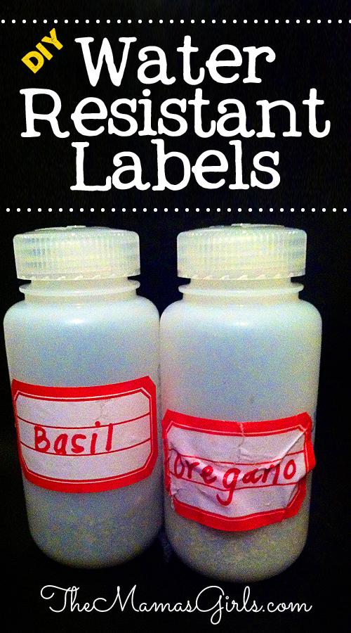 DIY Water Resistant Labels