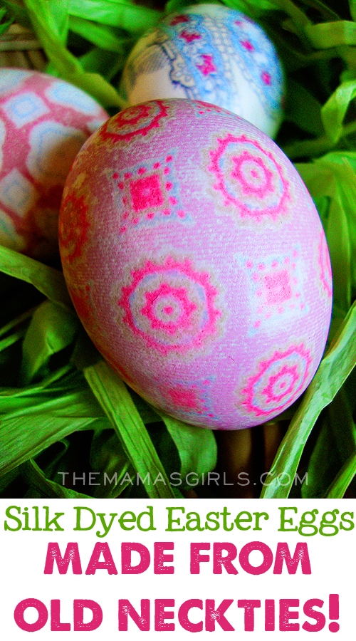 Silk-Dyed Easter Eggs Made From Old Neckties