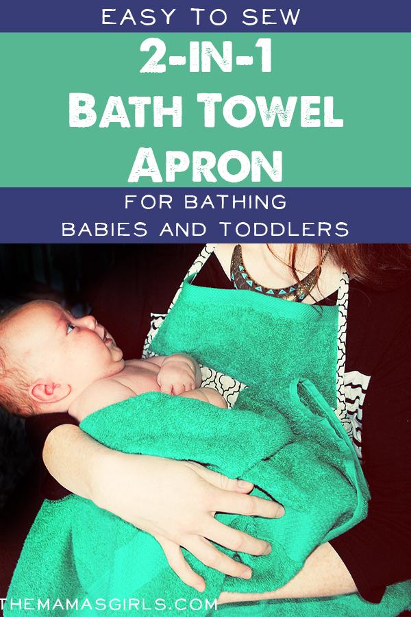 Homemade Bath Towel Apron