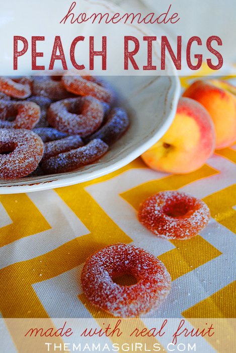 Homemade Peach Rings Made From Real Fruit