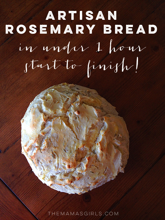 Quick and Easy Artisan Rosemary Bread