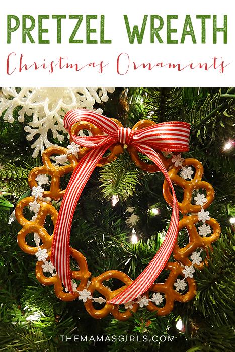 Pretzel Wreath Christmas Tree Ornaments