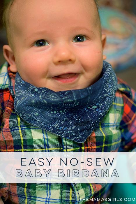 No-Sew Bibdana Baby Bib Tutorial