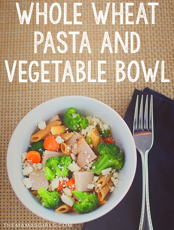 Whole Wheat Pasta and Veggie Bowl