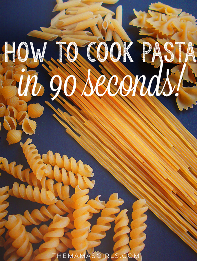 How to Quick-Cook Pasta in 90 Seconds!