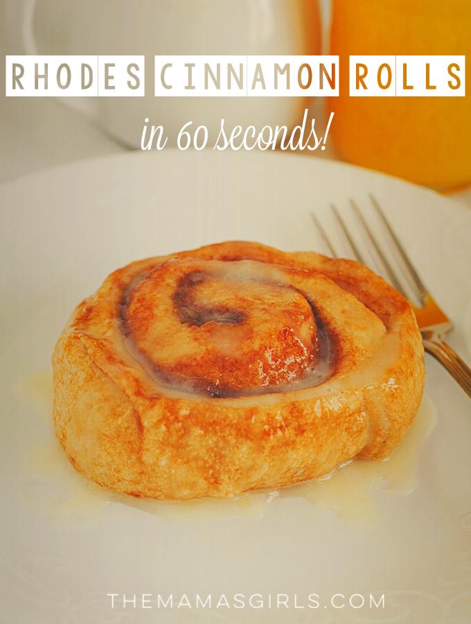 Rhodes Microwave Cinnamon Rolls