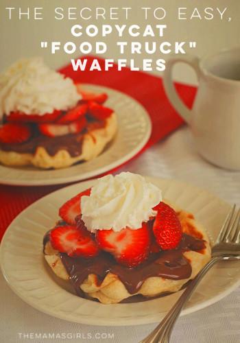 "The Secret to Easy, Copycat ""Food Truck"" Waffles"