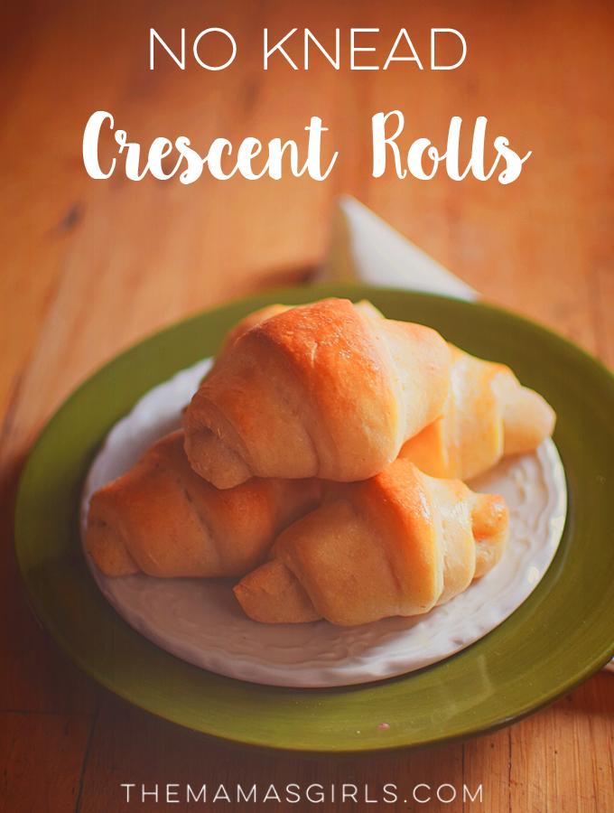 No Knead Crescent Rolls