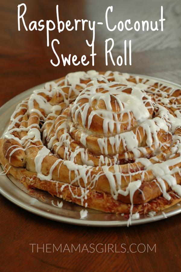 GIANT Raspberry Coconut Sweet Roll