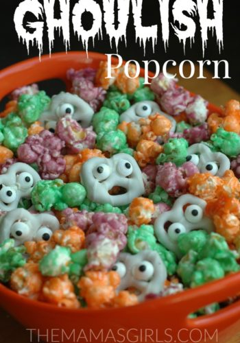 Ghoulish Popcorn Halloween Snack