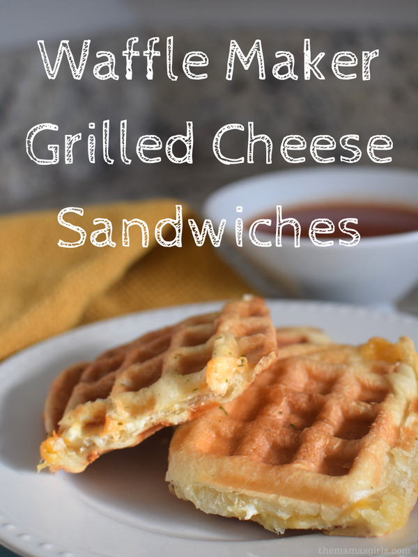 Waffle Maker Grilled Cheese Sandwich