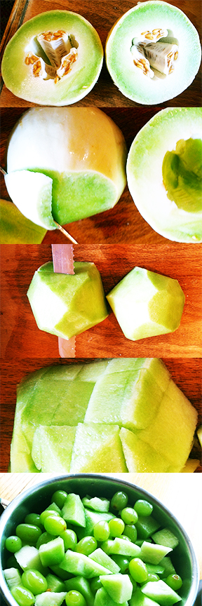 Time Saving Trick For Cutting Melons