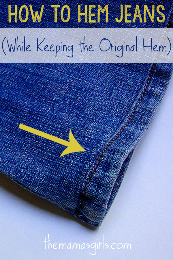 How To Hem Jeans While Keeping The Original Hem