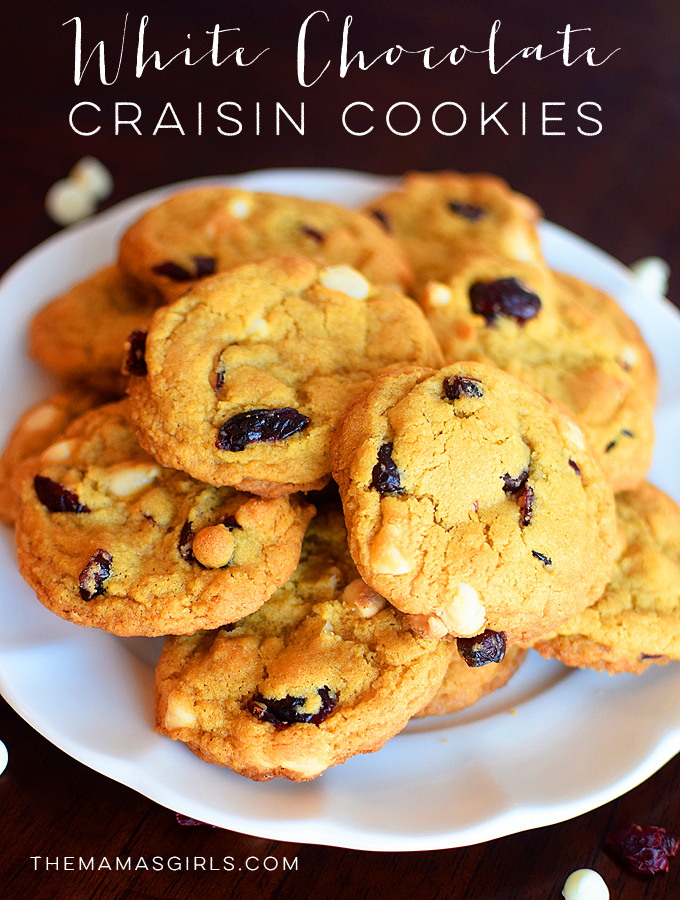 White Chocolate Chip and Craisin Cookies