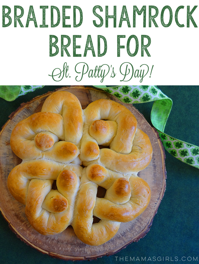 Braided Shamrock Bread for St. Patty's Day!