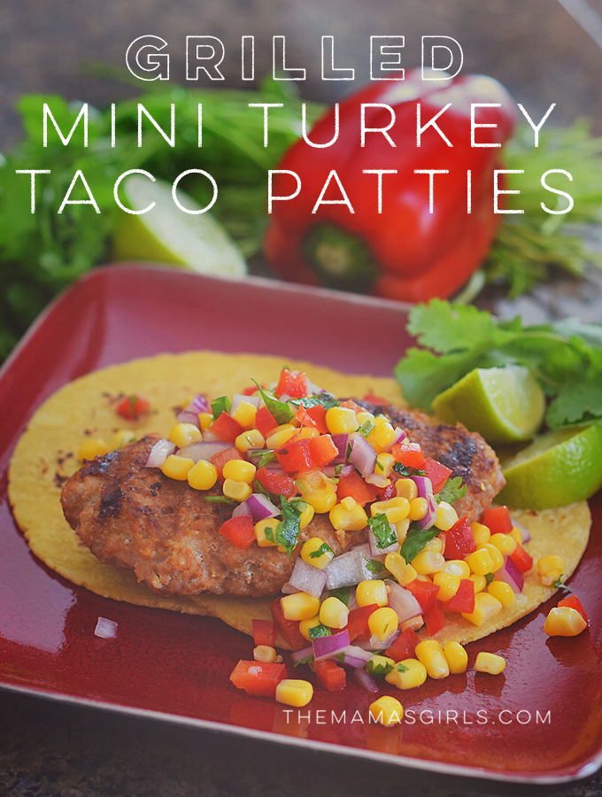 Grilled Mini Turkey Taco Patties