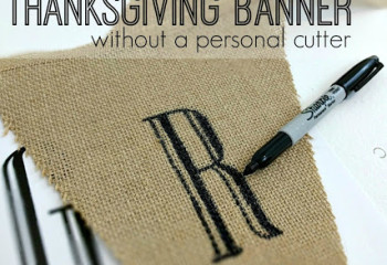 DIY Burlap Banner for Thanksgiving
