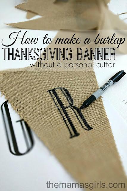 DIY Burlap Banner for Thanksgiving