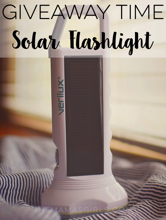 Giveaway Time – Verilux Solar Flashlight