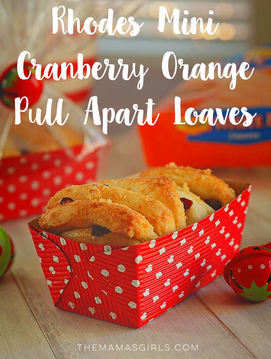 Rhodes Mini Cranberry Orange Pull Apart Loaves