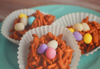 Easter Egg Candy Nests – Easiest Recipe for Kids
