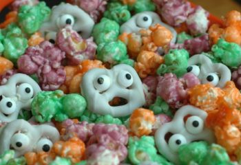 Ghoulish Popcorn Halloween Snack
