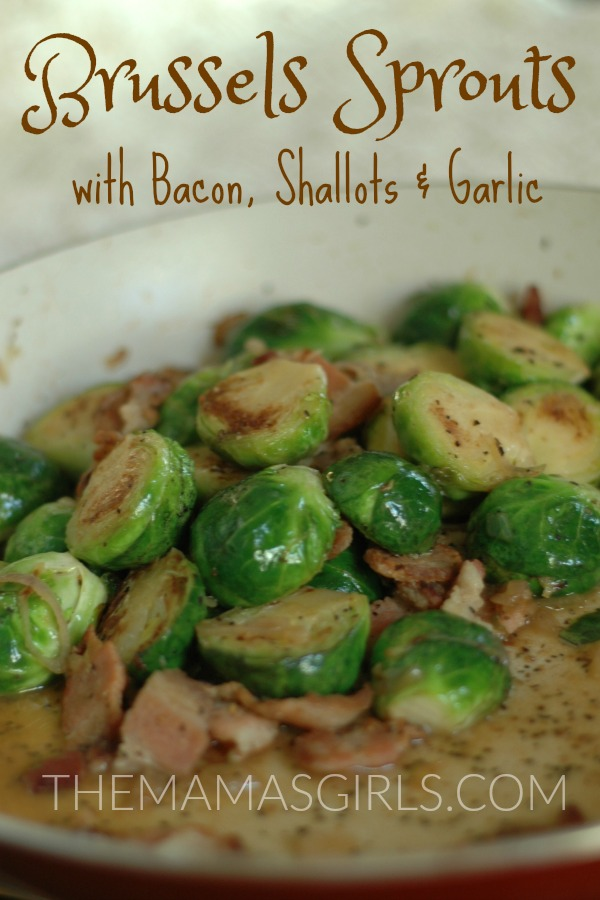 Brussels Sprouts with Bacon, Shallots & Garlic