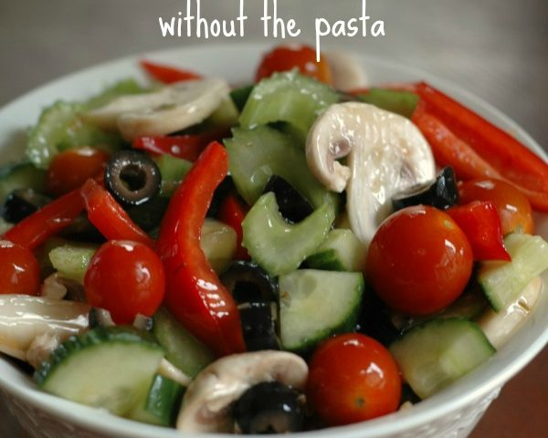 All the Flavors of Pasta Salad (without the pasta!)