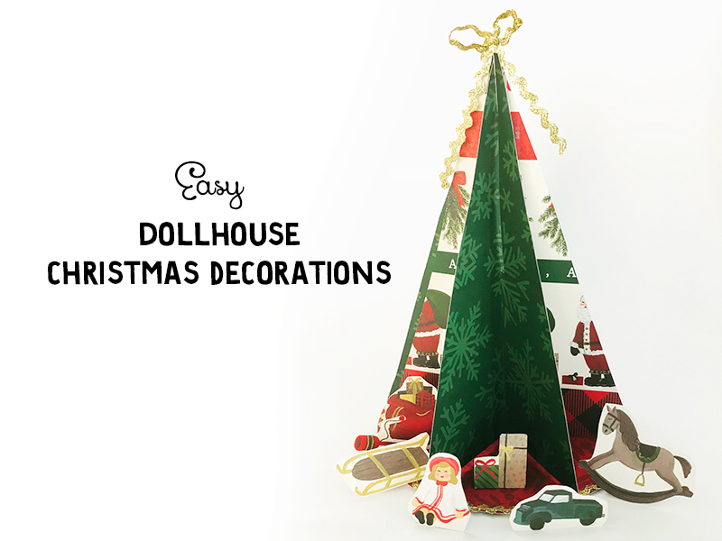 DIY Dollhouse Christmas Decor